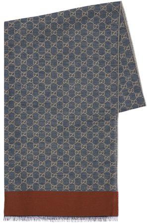 Gucci Heren Sjaals - Gg Jacquard Cotton Stole