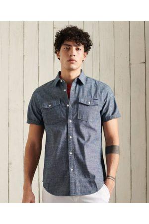 Superdry Heren Overhemden - Denim Loom overhemd met korte mouwen