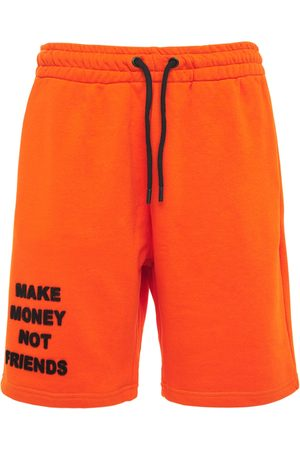 MAKE MONEY NOT FRIENDS Logo Neon Cotton Jersey Sweat Shorts