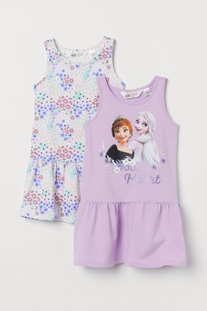 H&M Meisjes Geprinte jurken - Set van 2 jurken met print