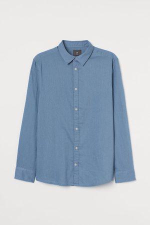 H&M Heren Overhemden - Hemd van linnenmix - Slim fit