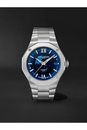 Baume & Mercier Heren Horloges - Riviera Automatic 42mm Stainless Steel Watch, Ref. No. M0A10616