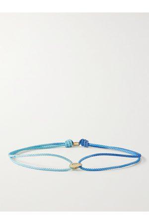 LUIS MORAIS Heren Armbanden - 14-Karat Gold and Cord Bracelet