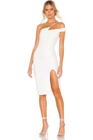 superdown Jillian Asymmetric Midi Dress in