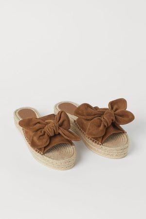 H&M Dames Espadrilles - Suède espadrilles/slippers