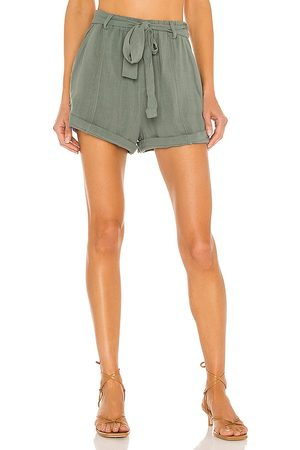 Bobi Dames Shorts - BLACK Indio Linen Short in