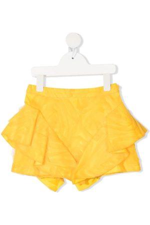 CAROLINE BOSMANS Asymmetric tulle mini skirt