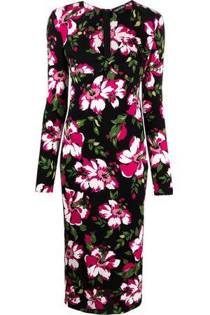 Tom Ford Dames Feestjurken - Floral-print mid-length dress