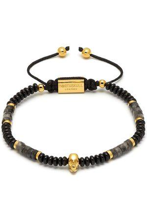 NORTHSKULL Heren Armbanden - Atticus Skull macramé bracelet