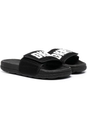 DKNY Teenslippers - Logo print touch-strap sliders