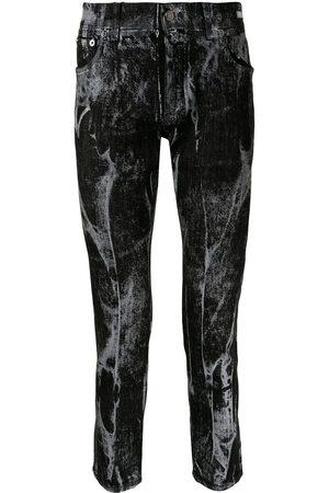 Dolce & Gabbana Heren Skinny - Marbled skinny jeans
