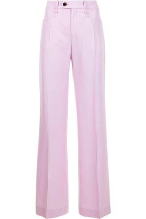 Chloé Dames Wijde broeken - Flared wool trousers