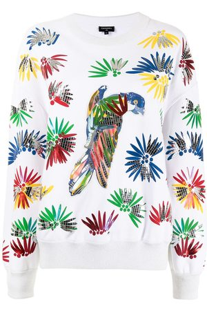 CHANEL Dames Sweaters - 2017 Cuba collection parrot-print sweatshirt