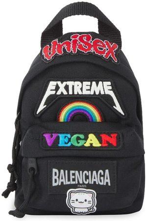Balenciaga Mini patch-detail crossbody backpack