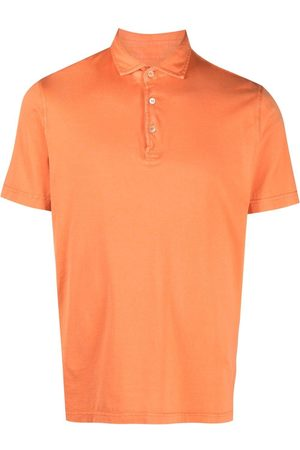 FEDELI Heren Korte mouw - Short-sleeved cotton polo shirt