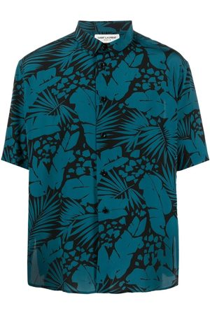 Saint Laurent Tropical-print shirt
