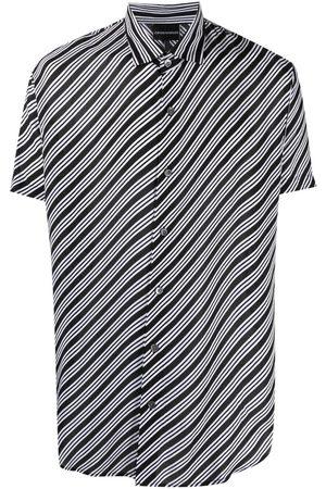 Emporio Armani Diagonal stripe-print shirt