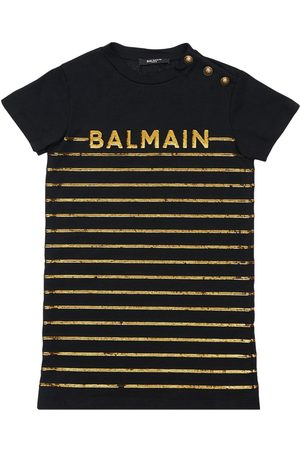 Balmain Stripes Cotton Jersey Dress