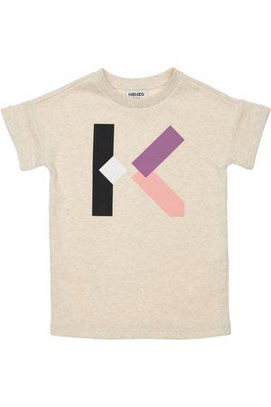 Kenzo Meisjes Geprinte jurken - Logo Print Cotton Dress