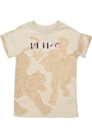 Kenzo Meisjes Geprinte jurken - All Over Print Cotton Dress