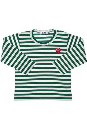 Comme des Garçons Jongens T-shirts - Striped Cotton Jersey T-shirt