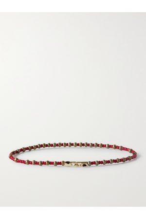 LUIS MORAIS Heren Armbanden - Bead and 14-Karat Gold Bracelet