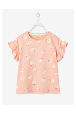 Vertbaudet Meisjesshirt met korte mouwen en stroken en bloemetjesprint met print