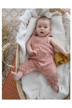 Vertbaudet Boxpakje baby van geborduurd katoengaas poederroze