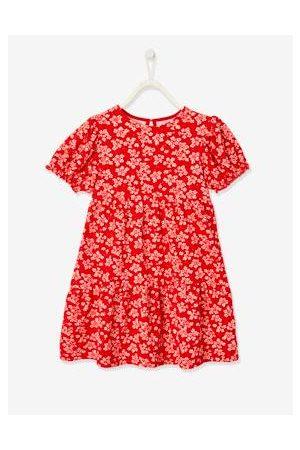 Vertbaudet Meisjes Geprinte jurken - Meisjesjurk met opdruk vermiljoenrood met print