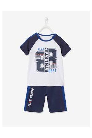 Vertbaudet Sportieve set voor jongens met T-shirt en bermuda indigoblauwe print