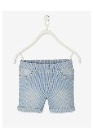 Vertbaudet Meisjes Shorts - Gestreepte tregging shorts voor meisjes gebleekt denim
