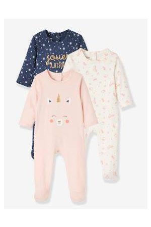 Vertbaudet Baby Pyjama's - Set van 3 fluwelen babypyjama's set jeansblauw