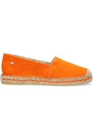 Fred de la Bretoniere Dames Espadrilles - Espadrille loafer suede orange