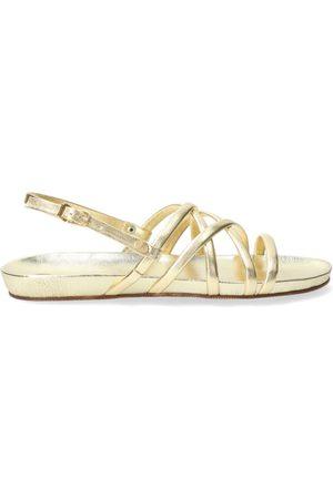 Fred de la Bretoniere Dames Sandalen - Sandal with covered footbed metallic light gold