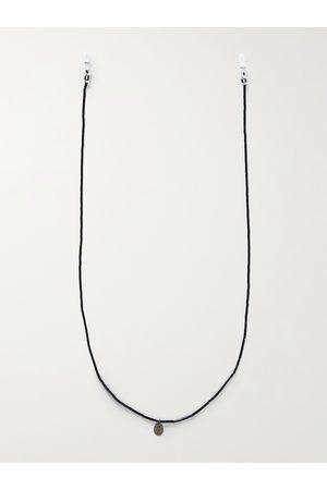 MIKIA Heren Zonnebrillen - Multi-Stone, Sterling Silver and Silk Sunglasses Chain