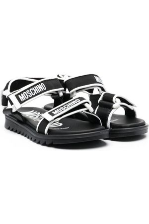Moschino Logo touch-strap sandals