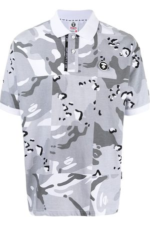 AAPE BY A BATHING APE Camouflage-print short-sleeved polo shirt