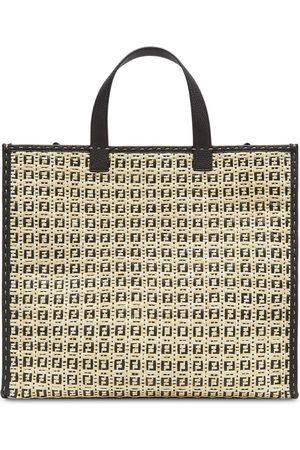 Fendi Two-tone FF-logo tote bag