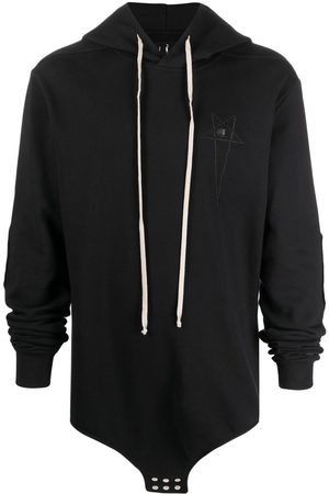 Rick Owens Embroidered-logo hoodie