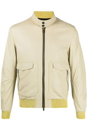 Ajmone Leather bomber jacket