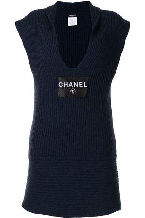 CHANEL Dames Gebreide jurken - 2008 plunging neck knitted dress