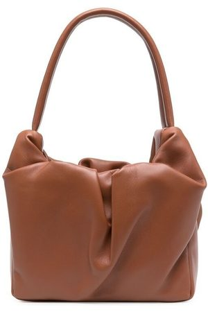 Staud Ruched leather tote bag