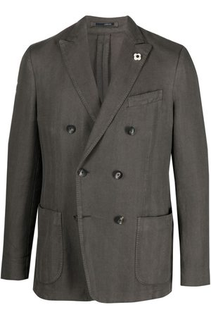 LARDINI Fitted double-breasted jacket