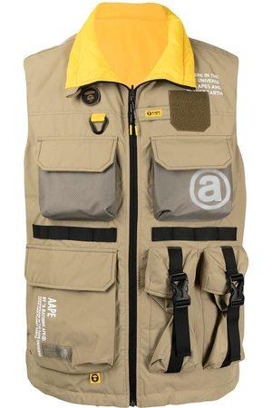 AAPE BY A BATHING APE Zip-up utility vest