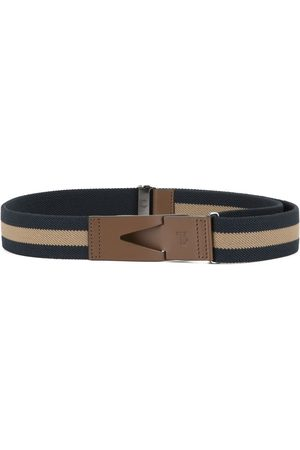 Tod's Greca striped belt