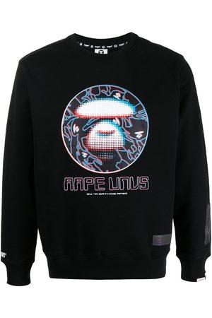 AAPE BY A BATHING APE Logo graphic print sweatshirt