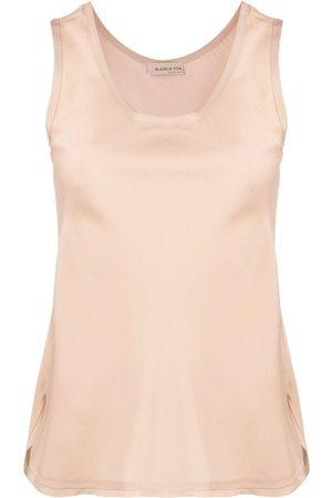 Blanca Vita Sleeveless silk blouse
