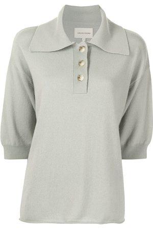 Loulou Studio Cashmere-knit polo shirt