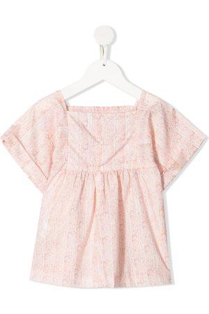 BONPOINT Smocked floral-print blouse