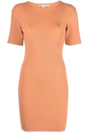 Stella McCartney Rib-detail bodycon dress